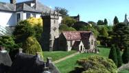Church Godshill Model village Isle of Wight Stock Footage