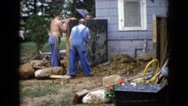 1960: adding a little extension to my house not that big  Stock Footage