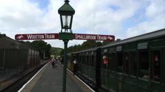 Haven Street platform Isle of Wight Steam Railway Stock Footage