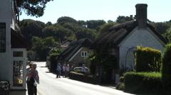 Godshill village Isle of Wight Stock Footage