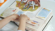 Children's book with beautiful and unusual pictures Stock Footage