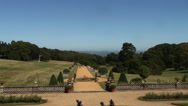 View from Osbourne house Isle of Wight Stock Footage