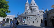 Budapest, Hungary. Circa September 2016. Tourists  in Fisherman´s Bastion. Stock Footage