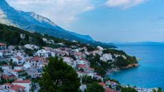 Day timelapse in Croatia - Brela. 4K Stock Footage