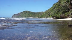 Coastal landscape Australes islands Rurutu Stock Footage