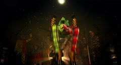 The Clowns acrobat dance. Halloween party. Stock Footage