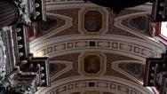 Tilt down of the interior of the beautiful Catholic church of Fara Poznanska Stock Footage