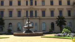 Fountain at rear of Osbourne house Isle of Wight Stock Footage