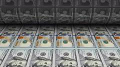 Printing Money New One Hundred Dollar Bill US Mint Stock Footage