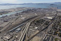Aerial View of San Francisco Bay and Oakland Harbor Kuvituskuvat