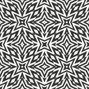Optical art abstract seamless pattern. Stock Illustration