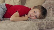 Boy Lying on the Couch Stock Footage