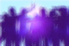 Silhouetted crowd Stock Illustration