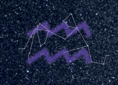 Aquarius Zodiac constellation Stock Illustration