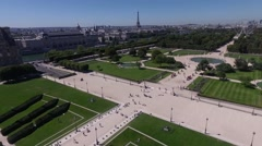 Aerial view of the park in paris Arkistovideo