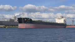 Ship Kerkyra bulk carrier crane Stock Footage