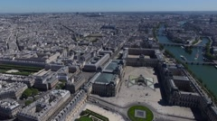Aerial of the city of paris Stock Footage