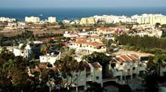 Aerial view. Protaras. Cyprus Stock Footage