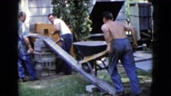 1960: a construction area beside a mud WAUCONDA, ILLINOIS Stock Footage