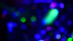 Background of multicolored blurred round light glare. Stock Footage