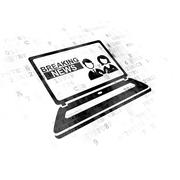 News concept: Breaking News On Laptop on Digital background Stock Illustration