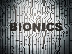 Science concept: circuit board with Bionics Stock Illustration