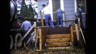 1960: a construction area beside a mud WAUCONDA, ILLINOIS Stock Footage