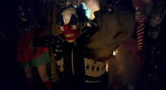 Clowns party. Happy Halloween. Stock Footage