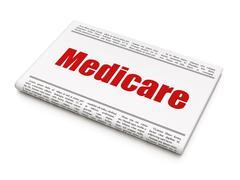 Healthcare concept: newspaper headline Medicare Stock Illustration