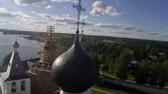 Aerial View Of The Ferapontov Monastery. Vologda region. Russia. Stock Footage