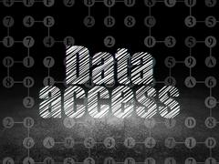 Data concept: Data Access in grunge dark room Stock Illustration