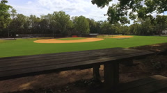 Youth Baseball Field Before a Game Stock Footage