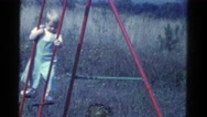 1959: by the childhood home, going around and seeing the outside CATSKILL GAME Stock Footage