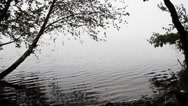 Mysterious mist over the lake. Dusk Stock Footage