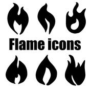 High quality original flame icons set for web design or any othe Stock Illustration