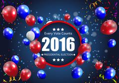 Presidential Election 2016 in USA Background. Can Be Used as Ban Stock Illustration