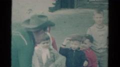 1959: fun fun fun times with kiddos dressed up in costumes CATSKILL GAME FARM Stock Footage