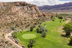 Moab Golf Course 4th Green Stock Photos