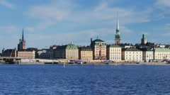 Old Town (Gamla Stan) in Stockholm, Sweden Stock Footage