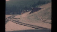 1959: a railway track area is seen CATSKILL GAME FARM, NEW YORK Stock Footage