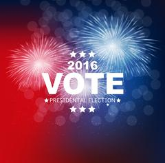 Presidential Election Vote 2016 in USA Background. Can Be Used a Stock Illustration