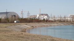 Ukraine April 2015 Chernobyl nuclear power plant disaster Stock Footage