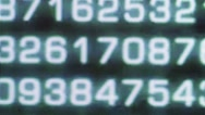 Binary code from a lcd monitor Stock Footage