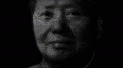 Mao Tse Tung Zedong Portrait Animation Stock Footage