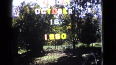 1960: a forest area is seen WAUCONDA, ILLINOIS Stock Footage