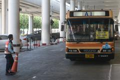 BANGKOK, THAILAND - 7 FEB 2016: Bus link between Don Mueang International Air Stock Photos