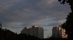 Time lapse of nightfall in a city Stock Footage