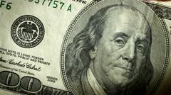 Dollar bill USA money burning in flames Stock Footage