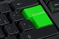 Success green keyboard button Stock Illustration