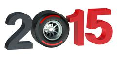 F1 Formula 1 Grand Prix  2015 concept Stock Illustration